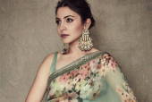 Anushka Sharma is an Elegant Beauty in This Pale Green Floral Number