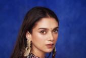 Aditi Rao Hydari Looks As Fresh As a Daisy In A Floral Ensemble For Ganesh Chaturthi Celebrations