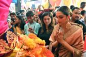 Deepika Padukone Visits Lalbaugcha Raja in a Traditional and Modest Look