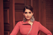 Sonam Kapoor Cuts a Stylish Figure In an Unconventional Sari