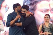 Chiranjeevi, Ram Charan And Tamannaah Bhatia For The Promotions Of 'Sye Raa'