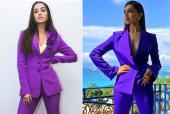 Fashion Faceoff: Deepika Padukone and Shraddha Kapoor rock the purple power suit