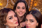 Bhumi Pednekar and Taapsee Pannu Beam with Joy in the Selfie with Raveena Tandon