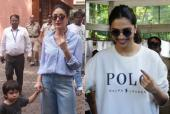 Maharashtra Elections 2019: From Kareena Kapoor Khan with Taimur Ali Khan to Deepika Padukone, Celebrities Step Out to Vote