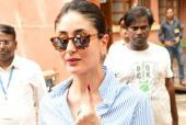 Kareena Kapoor Khan And Taimur Ali Khan Spotted At Voting Office