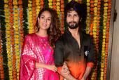 Shahid, Mira Kapoor Look Party-Ready For Diwali Festivities