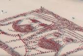 UAE Flag Day: 4,500 Flags Used in Dubai to Form Portraits of UAE leaders