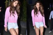 Disha Patani Is A Sight For Sore Eyes In Bubblegum Pink Sweat Shirt