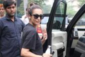 Malaika Arora And Amrita Arora Spotted At Yoga Class