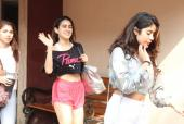 Sara Ali Khan And Janhvi Kapoor Spotted At Pilates Class