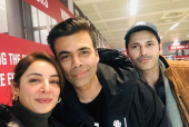 Sarwat Gillani, Fahad Mirza Run Into Karan Johar in Rome