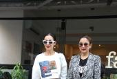 Malaika Arora and Amrita Arora Rock Denim and Dark Pouts