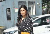 Katrina Kaif is a Stunner in Leather Skirt