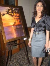 Priyanka at art exhibition
