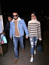 Airport Diaries: Ranveer Singh-Deepika Padukone Back from London, Varun Dhawan With a Fan, and Kareena Kapoor Snapped!