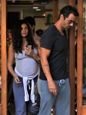 Arjun Rampal And Gabriella Demetriades Out For Lunch