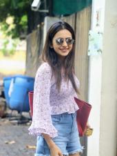 Rakul Preet Singh Looks Cute In Her Flowery Outfit