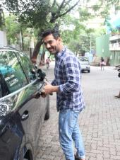 John Abraham Spotted Outside A Salon