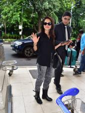 Nushrat Bharucha Spotted In Shades Of Black At Airport