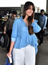 Ileana D'Cruz Looks Beautiful In Blue And White