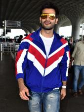 Karan Tacker Spotted At The Airport Looking Cool In Blue