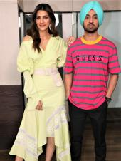 Kriti Sanon And Diljit Dosanjh Are Colorful For 'Arjun Patiala' Promotions