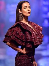 Malaika Arora Takes the Catwalk By Storm As DiyaRajvvir's Muse