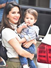 Sunny Leone Spotted Out With Her Children