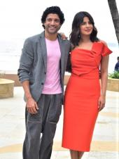 Priyanka Chopra, Rohit Saraf And Farhan Akhtar For Promotions Of 'The Sky Is Pink'