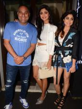 Shilpa Shetty And Family At Russell Peters Birthday Bash