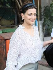 Sonali Bendre out and about