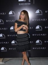 Amrita Arora Stuns in a Black and White Two Piece At an Event