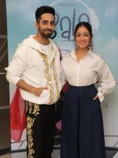 Ayushmann Khurrana And Yami Gautam Twin In White For An Interview