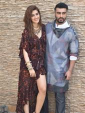 Kriti Sanon And Arjun Kapoor Head Out For Promotions