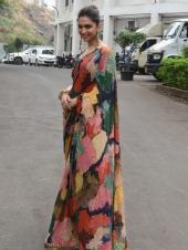 Deepika Padukone Goes Desi For Promotions