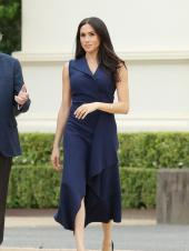Meghan Markle Brings Back Solid Coloured Outfits