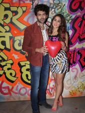 Sara Ali Khan and Kartik Aaryan at a Promotional Event