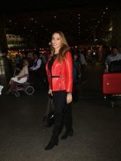 Iulia Vantur Rocks a Red Leather Jacket