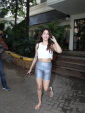Janhvi Kapoor Shines in Silver Shorts