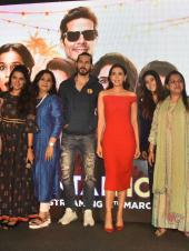 Karisma Kapoor Stuns in Red in Mentalhood Trailer Launch