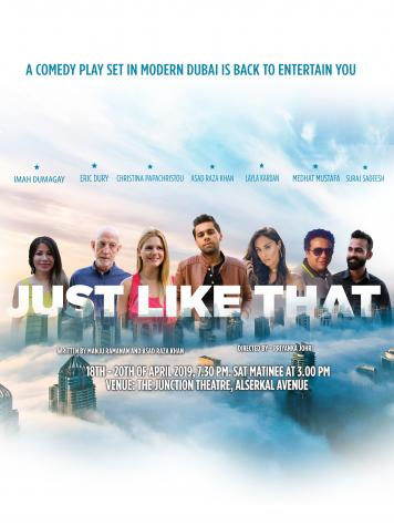 See Dubai Life On Stage in 'Just Like That (JLT)'