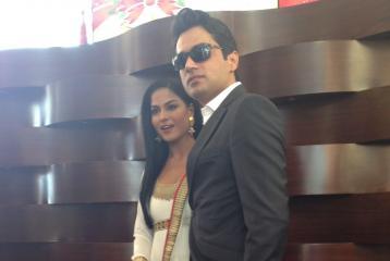 Veena Malik and Asad Bashir Khan Khattak Chat with Masala.com in Dubai