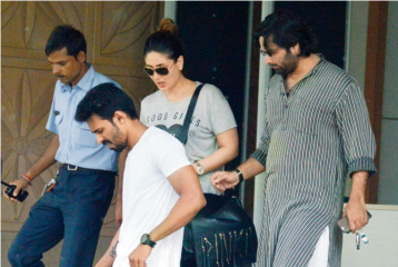 Bebo Looks After Hubby Saif Ali Khan After His Injury
