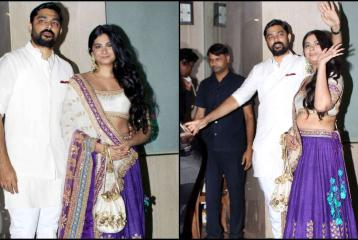 Rhea Kapoor Donnes Purple Lehenga for the Festive Season