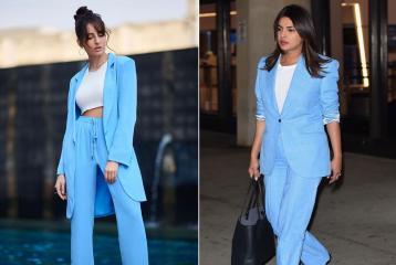 Priyanka Chopra or Nora Fatehi? Who Rocked the Powder Blue Power Suit