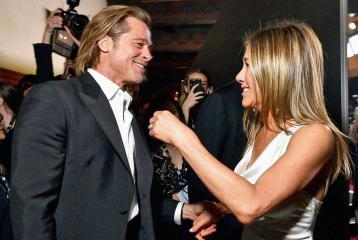 Brad Pitt and Jennifer Aniston Reunite and The Pictures Are Winning the Internet
