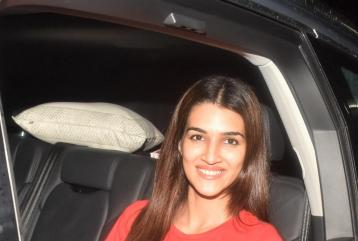 Kriti Sanon Gets Papped On Her Way Back From a Meeting