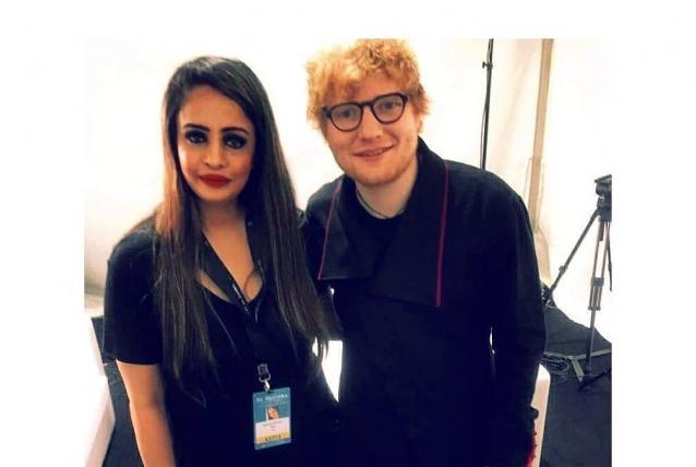 Jashoda Madhavji and Ed Sheeran