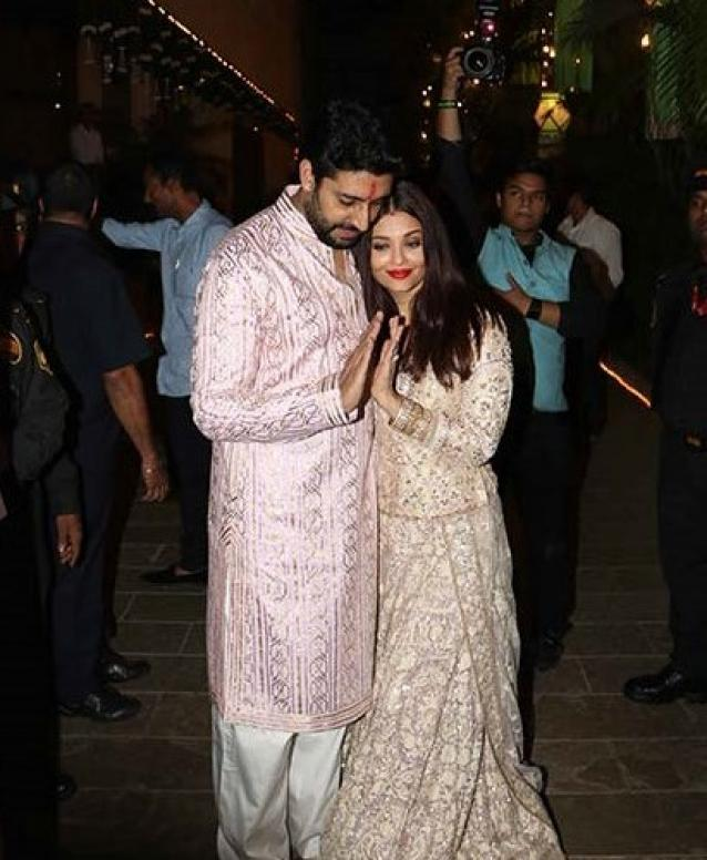 Ash and Abhishek Cuddle and Cosy Up During Diwali Bash