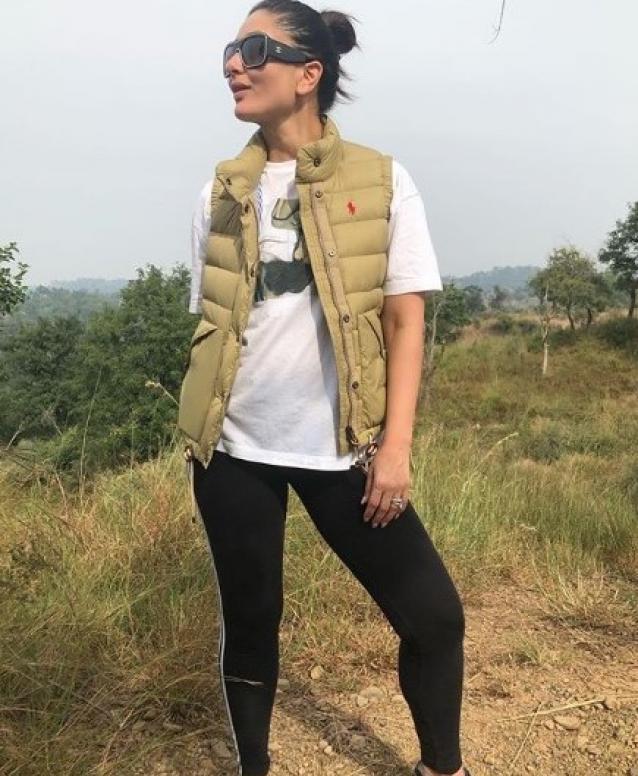 Kareena Kapoor Khan Goes For Trekking In Shivalik, Chandigarh